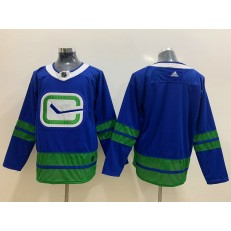 Vancouver Canucks Blank Blue Adidas NHL Men Jersey