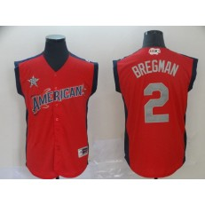 American League #2 Alex Bregman Red 2019 MLB All Star Game Workout Player Jersey