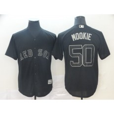 MLB Boston Red Sox #50 Mookie Betts Black 2019 Players' Weekend Player Jersey