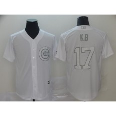 MLB Chicago Cubs #17 Kris Bryant KB White 2019 Players' Weekend Player Jersey