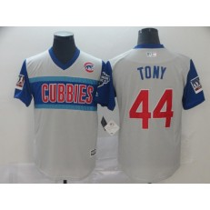 MLB Chicago Cubs #44 Anthony Rizzo Tony Gray 2019 MLB Little League Classic Player Jersey