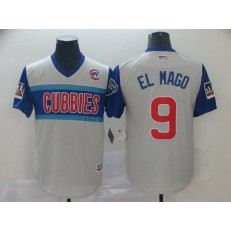 MLB Chicago Cubs #9 Javier Baez El Mago Gray 2019 MLB Little League Classic Player Jersey