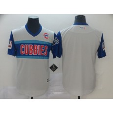 MLB Chicago Cubs Blank Gray 2019 MLB Little League Classic Team Jersey
