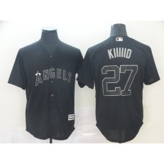 MLB Los Angeles Angels #27 Mike Trout Kiiiid Black 2019 Players' Weekend Player Jersey