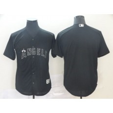 MLB Los Angeles Angels Blank Black 2019 Players' Weekend Authentic Player Jersey