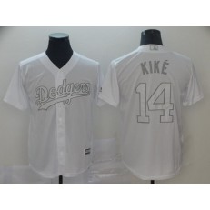 MLB Los Angeles Dodgers #14 Enrique Hernandez Kike White 2019 Players' Weekend Player Jersey