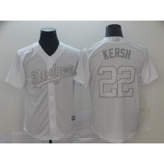MLB Los Angeles Dodgers #22 Clayton Kershaw Kersh White 2019 Players' Weekend Player Jersey