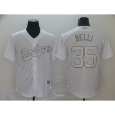 MLB Los Angeles Dodgers #35 Cody Bellinger Belli White 2019 Players' Weekend Player Jersey