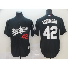 MLB Los Angeles Dodgers #42 Jackie Robinson Black Turn Back The Clock Cool Base Jersey