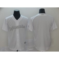 MLB Milwaukee Brewers Blank White 2019 Players' Weekend Player Jersey