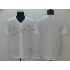 MLB New York Mets Blank White 2019 Players' Weekend Player Jersey