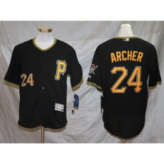 MLB Pittsburgh Pirates #24 Chris Archer Black Flexbase Jersey