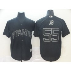 MLB Pittsburgh Pirates #55 Josh Bell Black 2019 Players' Weekend Player Jersey
