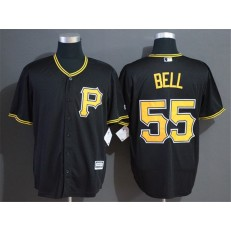 MLB Pittsburgh Pirates #55 Josh Bell Black Cool Base Jersey
