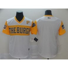 MLB Pittsburgh Pirates Blank White 2019 Little League Classic Team Jersey