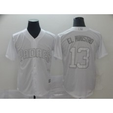 MLB San Diego Padres #13 Manny Machado El Ministro White 2019 Players' Weekend Player Jersey