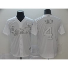 MLB St. Louis Cardinals #4 Yadier Molina Yadi White 2019 Players' Weekend Player Jersey