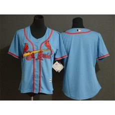 MLB St. Louis Cardinals Blank Women Light Blue Flexbase Jersey