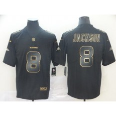 Baltimore Ravens #8 Lamar Jackson Black Gold Vapor Untouchable Limited Nike NFL Men Jersey
