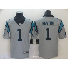 Carolina Panthers #1 Cam Newton Silver Inverted Legend Limited Nike NFL Men Jersey