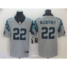 Carolina Panthers #22 Christian McCaffrey Silver Inverted Legend Limited Nike NFL Men Jersey