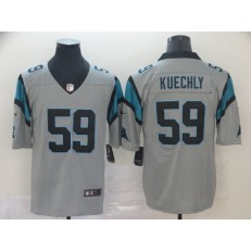 Carolina Panthers #59 Luke Kuechly Silver Inverted Legend Limited Nike NFL Men Jersey