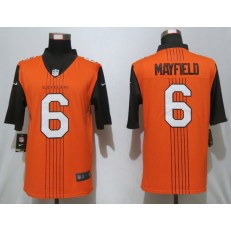 Cleveland Browns #6 Baker Mayfield Brown City Edition Vapor Untouchable Limited Nike NFL Men Jersey