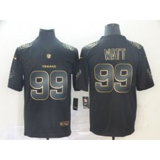 Houston Texans #99 J.J. Watt Black Gold Vapor Untouchable Limited Nike NFL Men Jersey