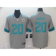 Jacksonville Jaguars #20 Jalen Ramsey Silver Inverted Legend Limited Nike NFL Men Jersey