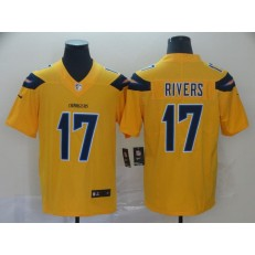 Los Angeles Chargers #17 Philip Rivers Gold Inverted Legend Limited Nike NFL Men Jersey