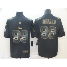 Los Angeles Rams #99 Aaron Donald Black Gold Vapor Untouchable Limited Nike NFL Men Jersey