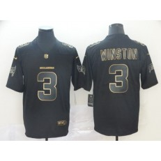 Tampa Bay Buccaneers #3 Jameis Winston Black Gold Vapor Untouchable Limited Nike NFL Men Jersey