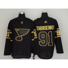St.Louis Blues #91 Vladimir Tarasenko Black Gold Adidas NHL Men Jersey