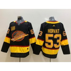 Vancouver Canucks #53 Bo Horvat Black 50th Season Adidas NHL Men Jersey