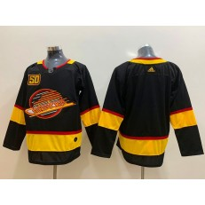 Vancouver Canucks Blank Black 50th Season Adidas NHL Men Jersey