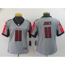 Women Nike Atlanta Falcons #11 Julio Jones Gray Inverted Legend Limited NFL Jersey
