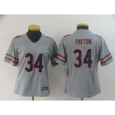 Women Nike Chicago Bears #34 Walter Payton Gray Inverted Legend Limited NFL Jersey