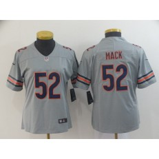 Women Nike Chicago Bears #52 Khalil Mack Gray Inverted Legend Limited NFL Jersey