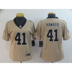 Women Nike New Orleans Saints #41 Alvin Kamara Cream Inverted Legend Limited NFL Jersey