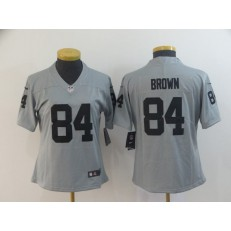 Women Nike Oakland Raiders #84 Antonio Brown Gary Inverted Legend Limited NFL Jersey