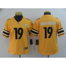 Women Nike Pittsburgh Steelers #19 JuJu Smith Schuster Gold Inverted Legend Limited NFL Jersey