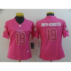 Women Nike Pittsburgh Steelers #19 JuJu Smith Schuster Pink Rush Limited NFL Jersey