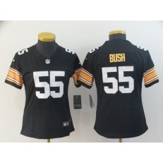 Women Nike Pittsburgh Steelers 55 Devin Bush Black Vapor Untouchable Limited NFL Jersey
