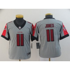Youth Nike Atlanta Falcons #11 Julio Jones Gray Inverted Legend Limited NFL Jersey