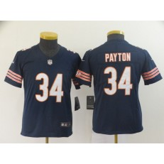 Youth Nike Chicago Bears #34 Walter Payton Navy Vapor Untouchable Limited NFL Jersey