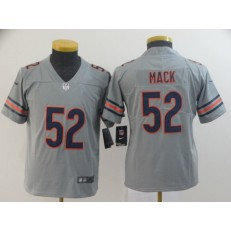 Youth Nike Chicago Bears #52 Khalil Mack Gray Inverted Legend Limited NFL Jersey