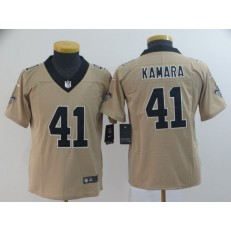 Youth Nike New Orleans Saints #41 Alvin Kamara Cream Inverted Legend Limited NFL Jersey