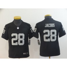 Youth Nike Oakland Raiders #28 Josh Jacobs Black Vapor Untouchable Limited NFL Jersey