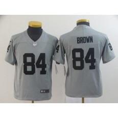 Youth Nike Oakland Raiders #84 Antonio Brown Gary Inverted Legend Limited NFL Jersey