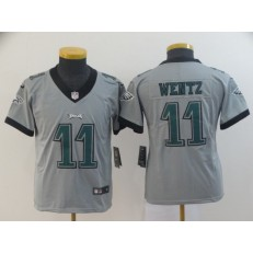 Youth Nike Philadelphia Eagles #11 Carson Wentz Silver Inverted Legend Limited NFL Jersey